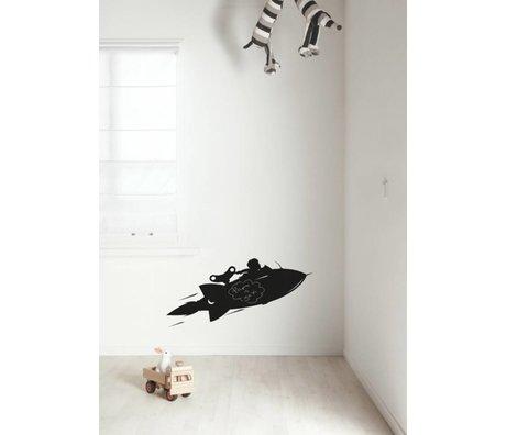 KEK Amsterdam Schoolbordsticker 2 maten zwart Rocket schoolbordfolie