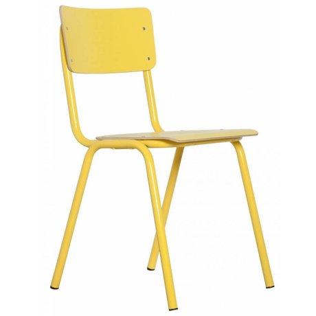 Zuiver Stoel Back to school geel 43x38x83
