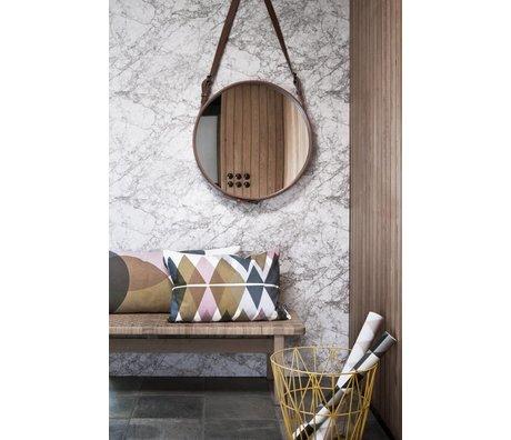 Ferm Living Behang marble wit/grijs papier 10.05mtrx53cm