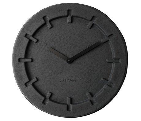 Zuiver Klok Pulp zwart met zwarte wijzers Ø46x5,5cm