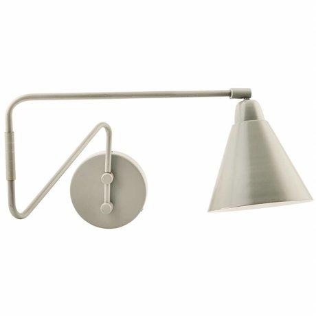 Housedoctor Wandlamp Game metaal grijs/wit Ø15x13x70cm