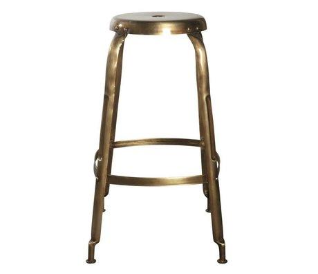 Housedoctor Barkruk Define goud metaal Ø36x75cm