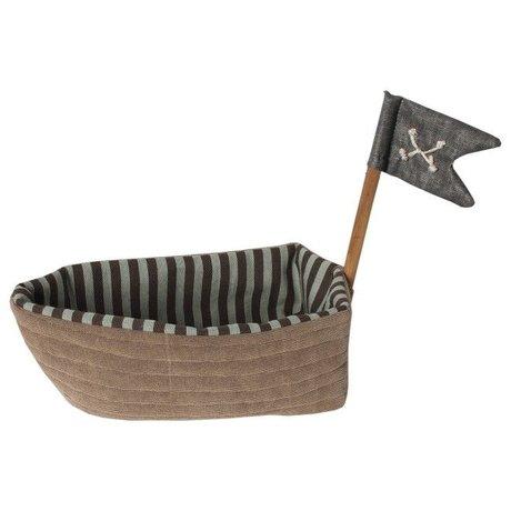 Maileg Piraten schip bruin katoen L23cm, Pirate ship