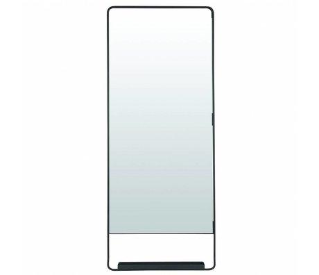 Housedoctor Spiegel Chiq met plank zwart metaal 45x110cm