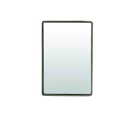 Housedoctor housedoctor spiegel reflektion gun metal/brass 30x20x4cm