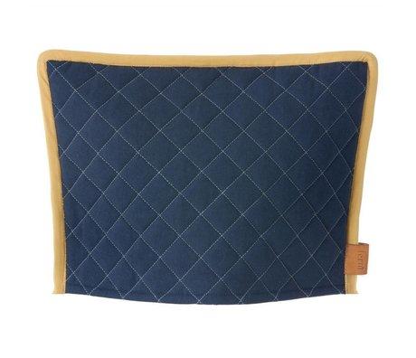 Ferm Living Theemuts Cozy donker blauw geel 35x25cm