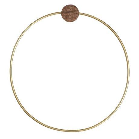 Ferm Living Handdoekring Brass goudkleurig ø 20,5cm