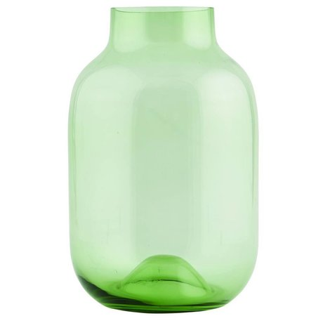 Housedoctor Vase Shaped recycled groen glas ø21xh32,5cm