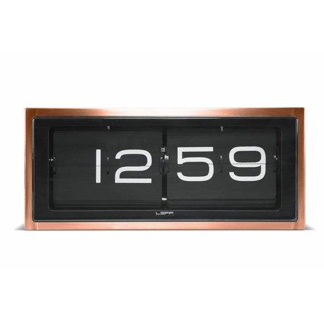 LEFF Amsterdam Klok Brick wand en tafelklok koper zwart 36x12,8x15,7cm