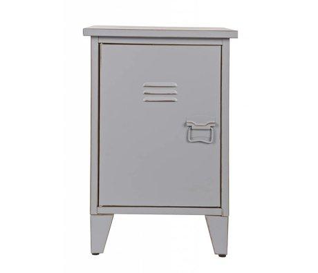 LEF collections Nachtkastje 'Max' linksdraaiend grijs 40x35x60,5cm