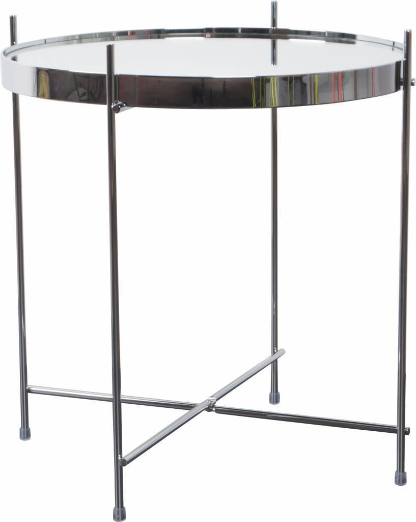 Bijzettafel Metaal Glas.Zuiver Bijzettafel Cupid Zilver Metaal Glas O43x45cm Lefliving Be