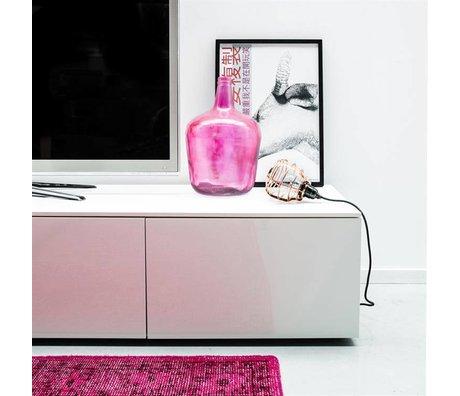 HK-living Vaas karaf roze glas h40cm/10ltr