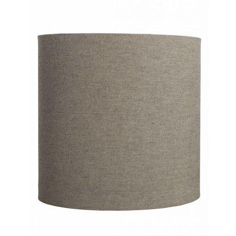 Housedoctor Lampenkap 'Fine' grijs/bruin Ø30x30cm katoen