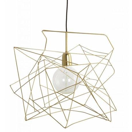 Housedoctor Lampenkap 'Asymetric' glimmend goud metaal Ø45cm