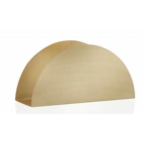 Ferm Living Brievenhouder Brass Semicirle stand messing metaal met matte polisch 30x15x10cm