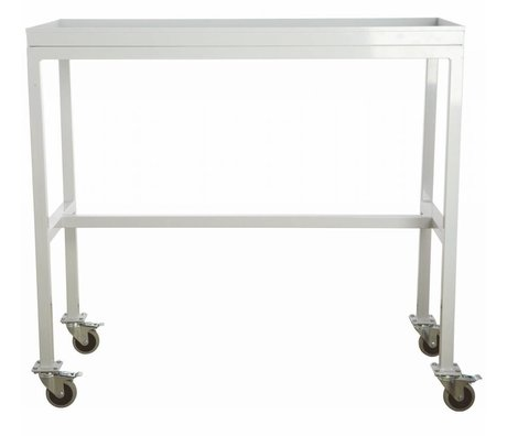Housedoctor Trolley 'Rolling table' licht grijs metaal 100x45x90cm