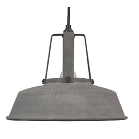 HK-living Hanglamp Workshop M mat grijs 29,5x29,5x24cm