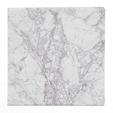 Ferm Living Servetten Marble 20 stuks grijs papier 33x33cm