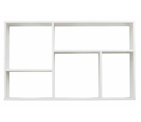 LEF collections Letterbak/ wandkast 'Meike' wit grenen 60X100X18cm