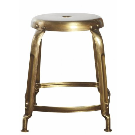 Housedoctor Kruk goud metaal Ø36x45cm ,Stool Define golden finish/lacquered