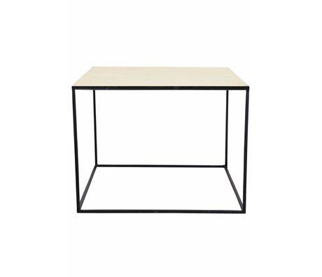 Housedoctor Salontafel Cube koper met metalen onderstel 60x60x45cm