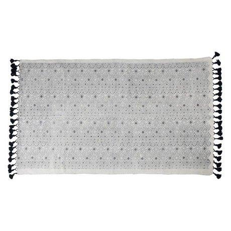 Zuiver Vloerkleed Graphic zwart katoen120x180cm