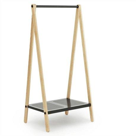 Normann Copenhagen Kledingrek Toj grijs staal essen hout 160x74x59,5cm
