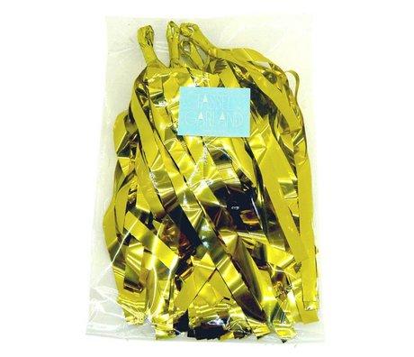 A Little Lovely Company Slinger losse Tassel goud 12x36cm
