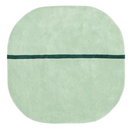 Normann Copenhagen Kleed Oona mint groen wol 140x140cm