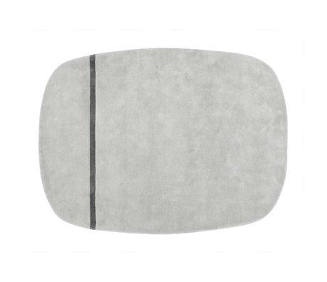 Normann Copenhagen Kleed Oona grijs wol 175x240cm