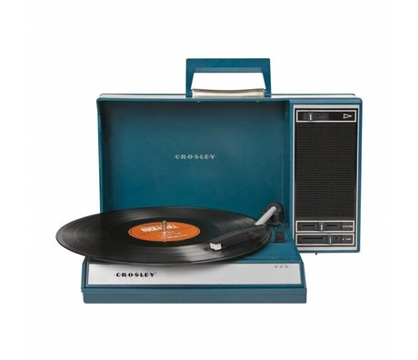 Crosley Radio Crosley Spinnerette blauw 26x41x11cm