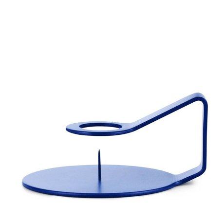 Normann Copenhagen Kandelaar Nocto strong blauw zink 12x10,2x6cm
