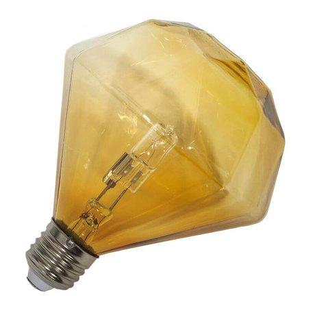 Frama Lampenbol Diamond halogeen bulb E27 cognac glas 11,5cm
