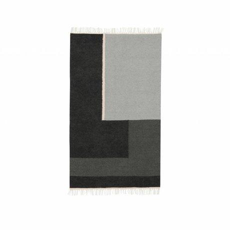 Ferm Living Vloerkleed Kelim Section grijs small 80x140cm