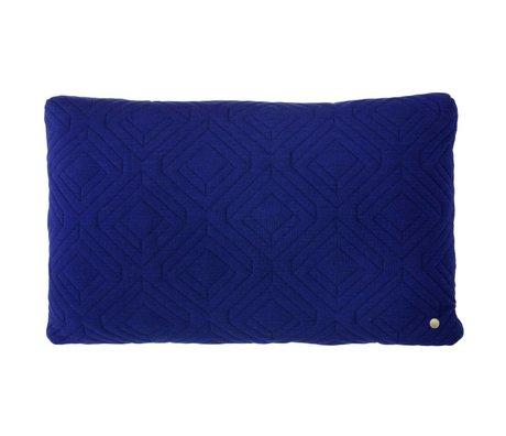 Ferm Living Sierkussen Quilted donker blauw 60x40cm