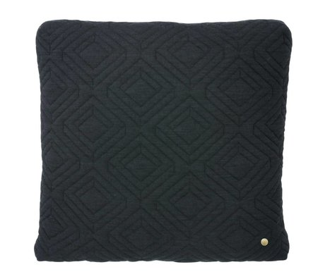 Ferm Living Sierkussen Quilted donker grijs 45x45cm
