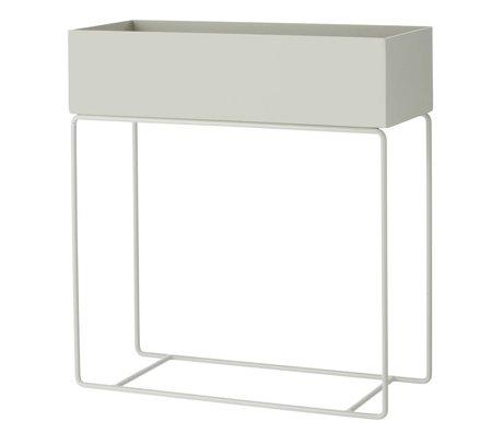 Ferm Living Box voor plant grijs metaal 60x25x65cm