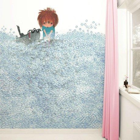 KEK Amsterdam Behang Washing the Dog multicolour vliespapier 292,2x280cm