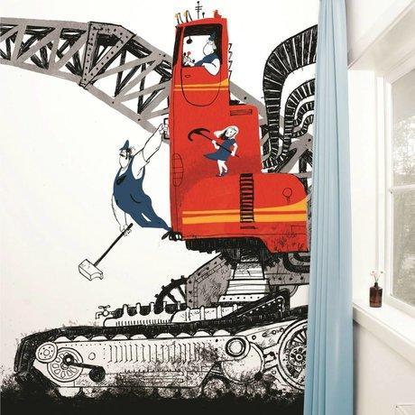 KEK Amsterdam Behang Wrecking Ball multicolour vliespapier 389,6x280cm