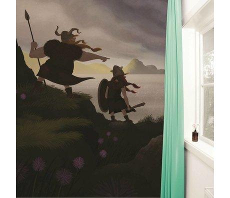 KEK Amsterdam Behang Vikings multicolour vliesbehang 389,6x280cm