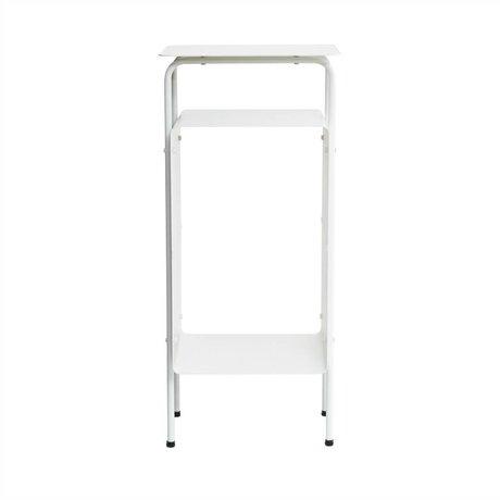 Housedoctor Bijzettafel Room wit metaal 32x30x70cm