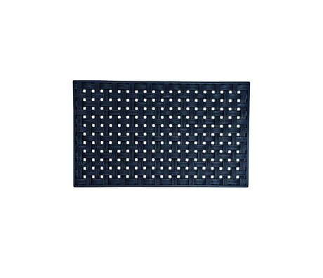 Housedoctor Mat All Rubber design 02 zwart rubber 45x75cm