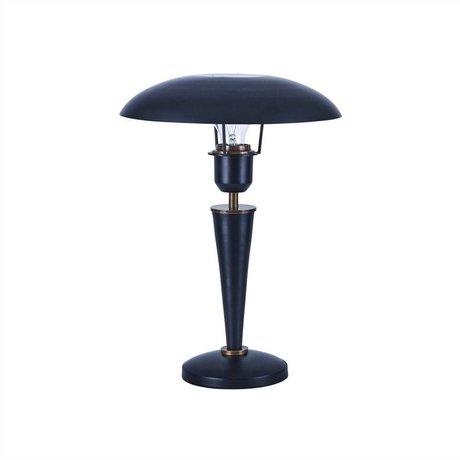 Housedoctor Tafellamp Opal zwart brass metaal 34cm