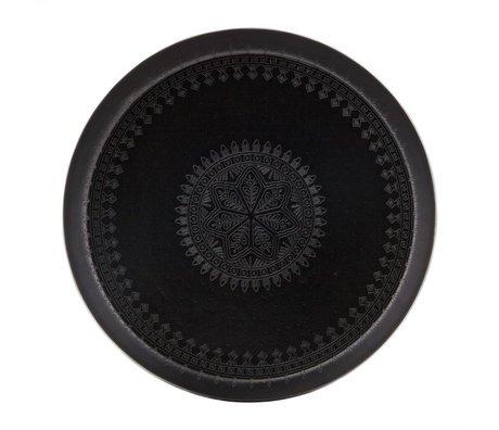 BePureHome Dienblad Iron Lady zwart metaal Ø55cm