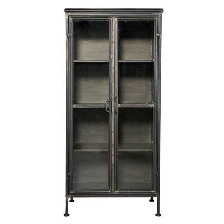 BePureHome Kast Puristic cabinet zwart metaal 59x41x124cm