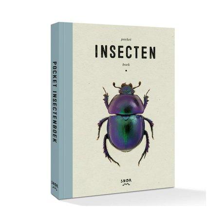 Uitgeverij Snor Boek Pocket insectenboek multicolour papier 11,6x16,3cm