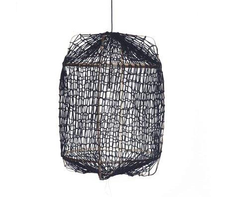 Ay Illuminate Hanglamp Z1 zwart bamboe ø67x100cm