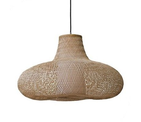 Ay Illuminate Hanglamp May small naturel bruin bamboe Ø70x42cm