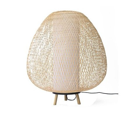 Ay Illuminate Tafellamp Twiggy Egg naturel bruin bamboe Ø60x70cm