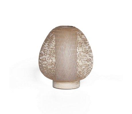 Ay Illuminate Tafellamp Twiggy AW naturel bruin bamboe Ø30x35cm